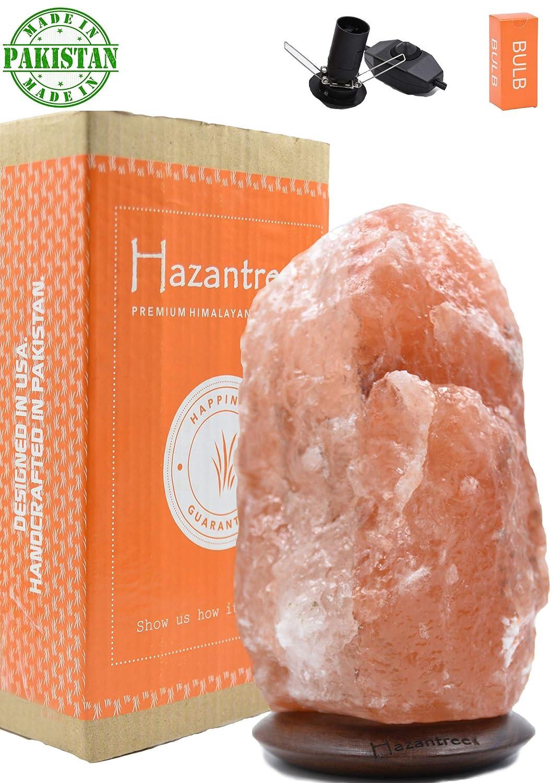 Rare Caviar Grey Gray Himalayan Salt Lamp-Made in Pakistan- Chenab (5-7 lbs, 8' to 9') - Dimmer Cord- Rosewood Base- hymalain Salt Lamps 8 to 9) - Dimmer Cord- Rosewood Base- hymalain Salt Lamps Hazantree