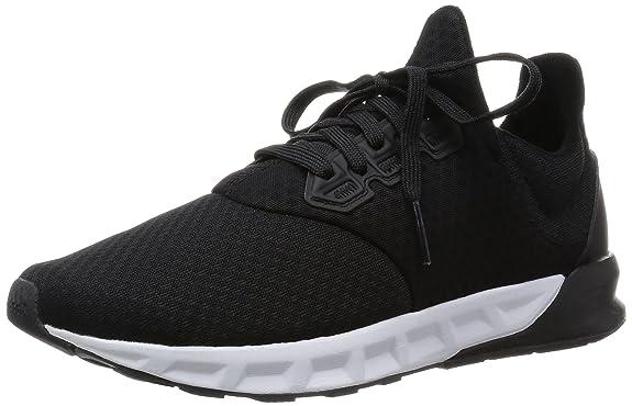 adidas Falcon Elite 5 M, Chaussures de Running Entrainement Homme, Noir/Blanc (Noir Essentiel/Noir Essentiel/Gris Foncé), 46 2/3 EU