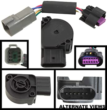apdty 112792 tps apps throttle position accelerator pedal position sensor w wiring harness adapter connector