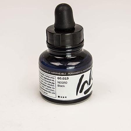 Vallejo : Artist Acrylic Ink : 30ml : Black by Acrylicos Vallejo