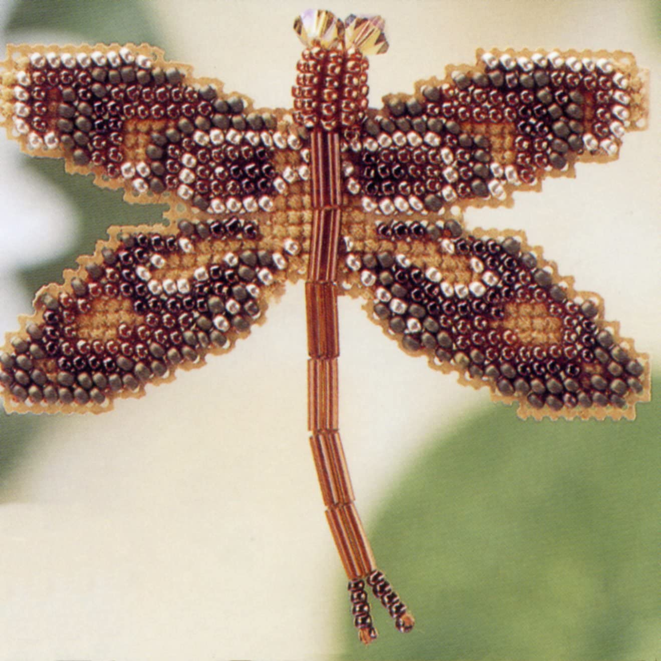 Sapphire Dragonfly Bead Cross Stitch Kit Mill Hill 2000 Spring Bouquet