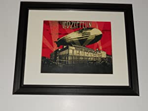 """Framed Led Zeppelin July 1973 Tour NYC Madison Square Garden Print 14"""" by 17"""""""