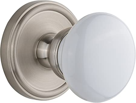 Privacy Grandeur Georgetown Rosette with Windsor Knob Timeless Bronze 2.375