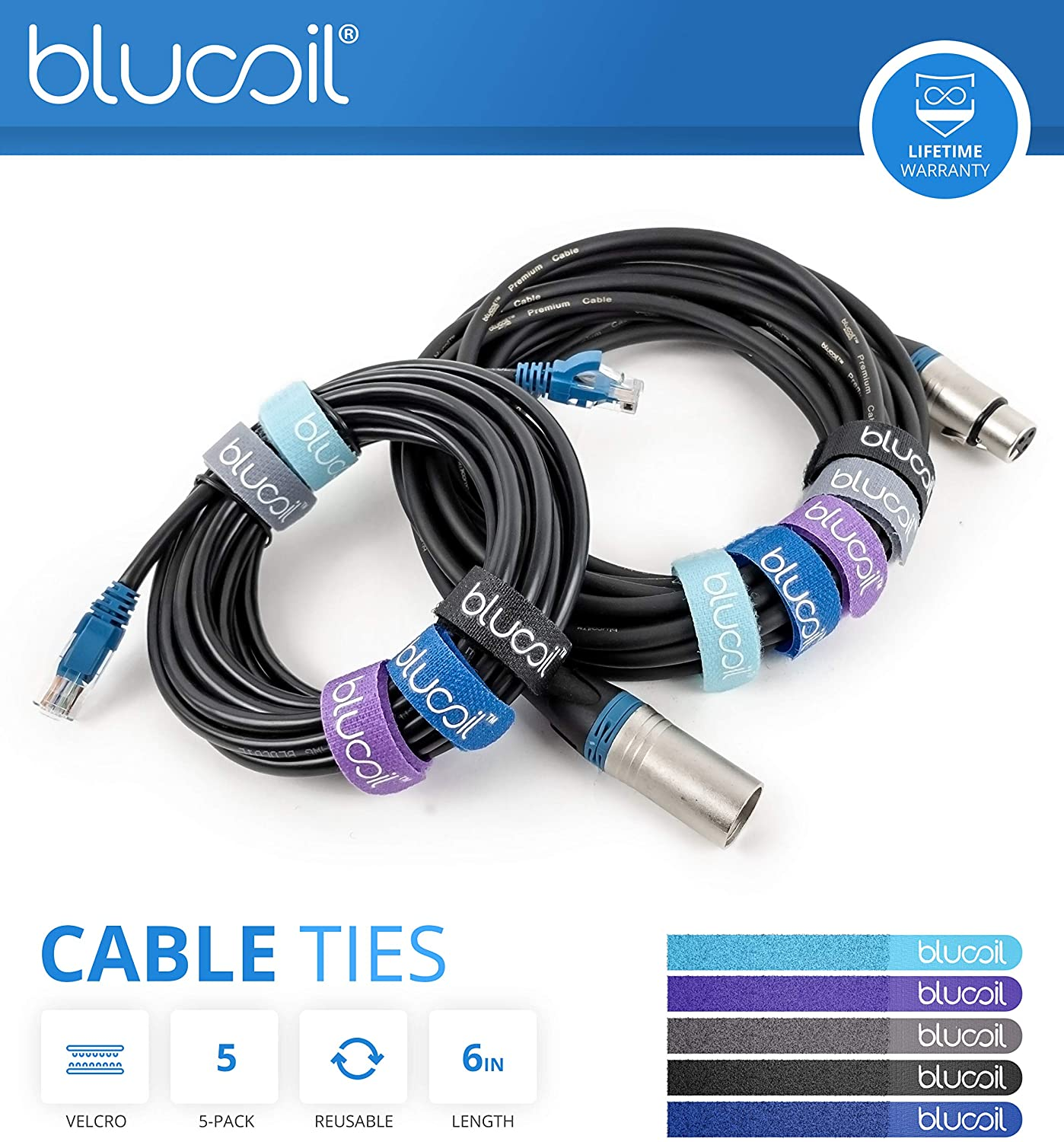 LR Baggs Venue DI Acoustic Guitar Preamp Bundle with Blucoil Slim 9V Power Supply AC Adapter 1//4 2x Patch Cables and 5x Cable Ties 10-FT Balanced XLR Cable 10 Straight Instrument Cable