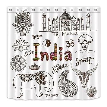 Lb Handgezeichnete Indische Symboleindien Yogatiere Entwurf