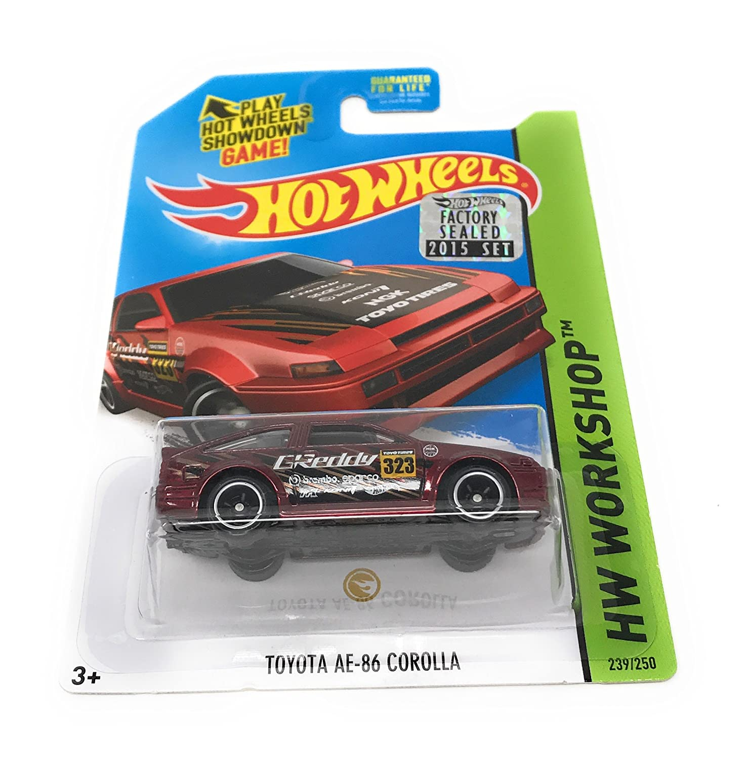 Hot Wheels 2015 Super Treasure Hunt Toyota Ae 86 Corolla Hotwheels Red Dark 239 250 Toys Games