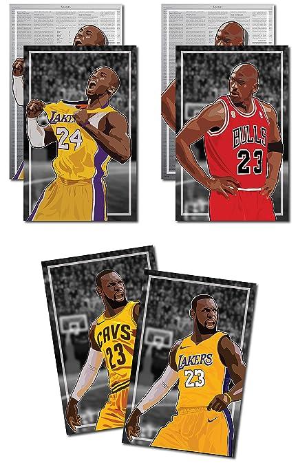 71269ebe453 3 Posters of NBA G.O.A.T. - Michael Jordan, Kobe Bryant, LeBron James Art  Prints