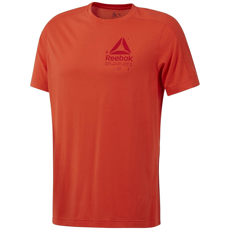 Reebok Speedwick Graphic T Camiseta, Hombre, carote, X-Large ...