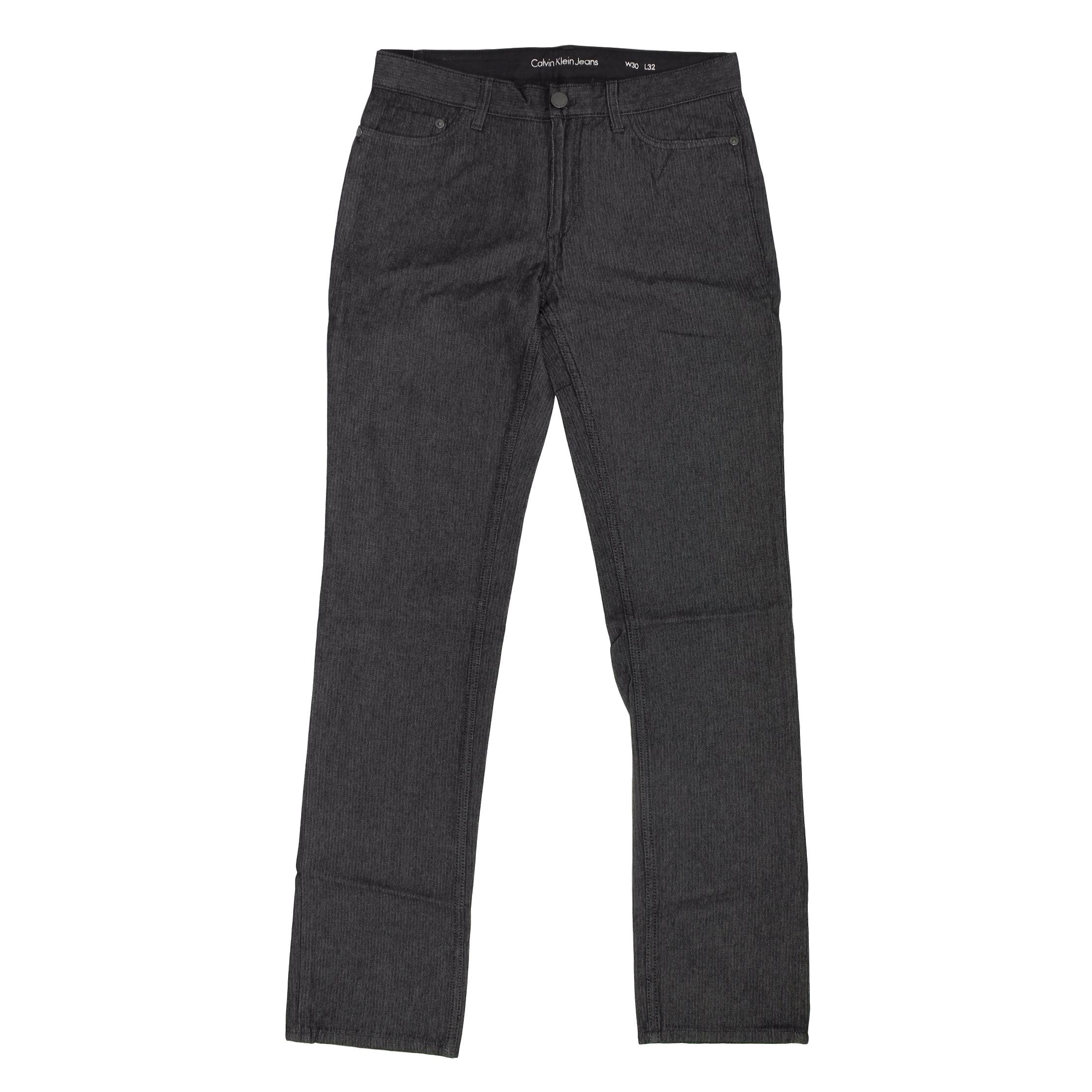 Calvin Klein Jeans Mens Herringbone 5 Pocket Slim Straight Pant (38x34, Chrome)