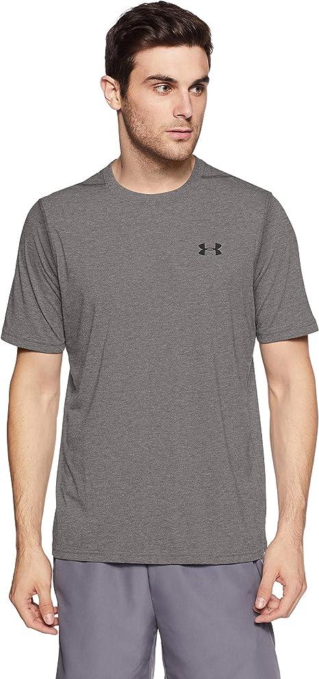 Under Armour Siro Mens Training Top Grey Short Sleeve Breathable Gym T-Shirt UA