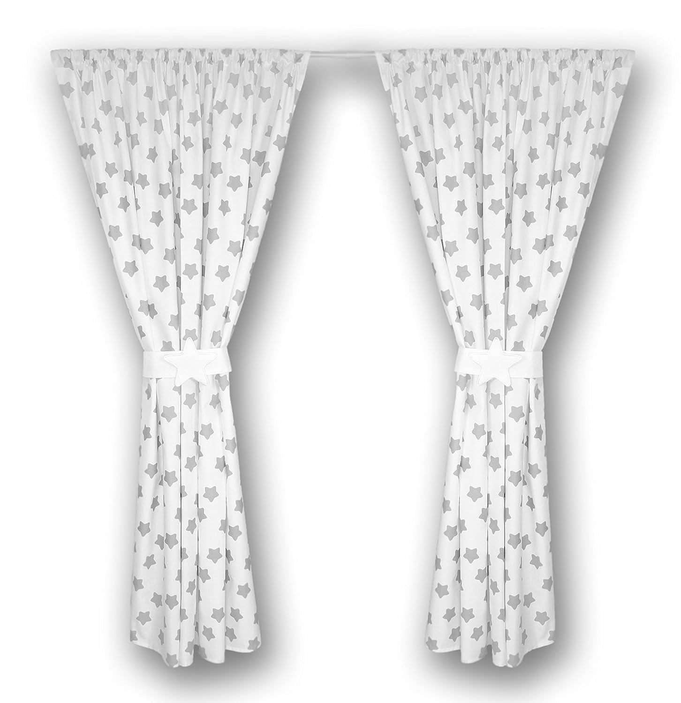 A13 Amilian/® Kinderzimmer Vorh/änge 155 x 155 cm Set mit Schlaufen Baby Gardinen Vorhang
