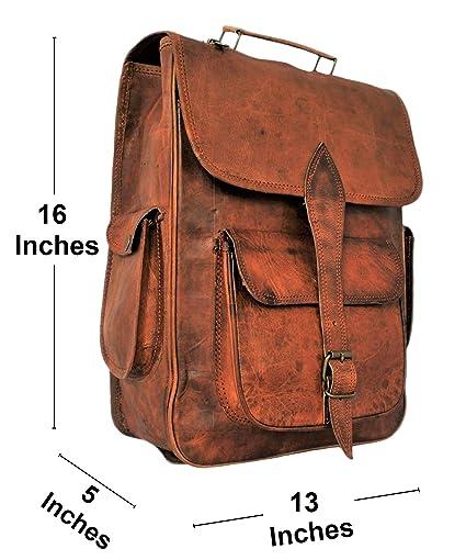 c32e24bd4c67 Amazon.com  Handmade Genuine Leather Backpack Laptop Bag for Men Women Gift  for Him Her  RusticTown