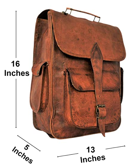9715f0aaa1 Amazon.com  Handmade Genuine Leather Backpack Laptop Bag for Men Women Gift  for Him Her  RusticTown
