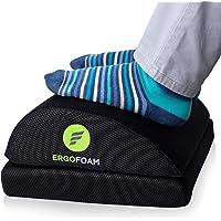 ErgoFoam Adjustable Foot Rest for Added Height (Mesh) | Orthopedic Teardrop Design | Large Premium Under Desk Foot Rest…