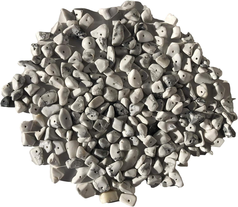 Rhinestone Paradise Aprox. Howlit - Juego de 200 Perlas de Piedras Preciosas (Forma Natural, de 15 a 5 mm)