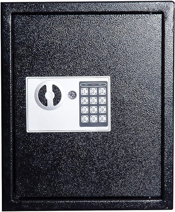benzoni Cassetta Portachiavi di Sicurezza Professionale da Muro di 40 Ganci Nero 30x36,5x10 cm