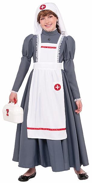 e06031244428f Forum Novelties 77758 Kids Civil War Nurse Costume, Medium, Multicolor,  Pack of 1