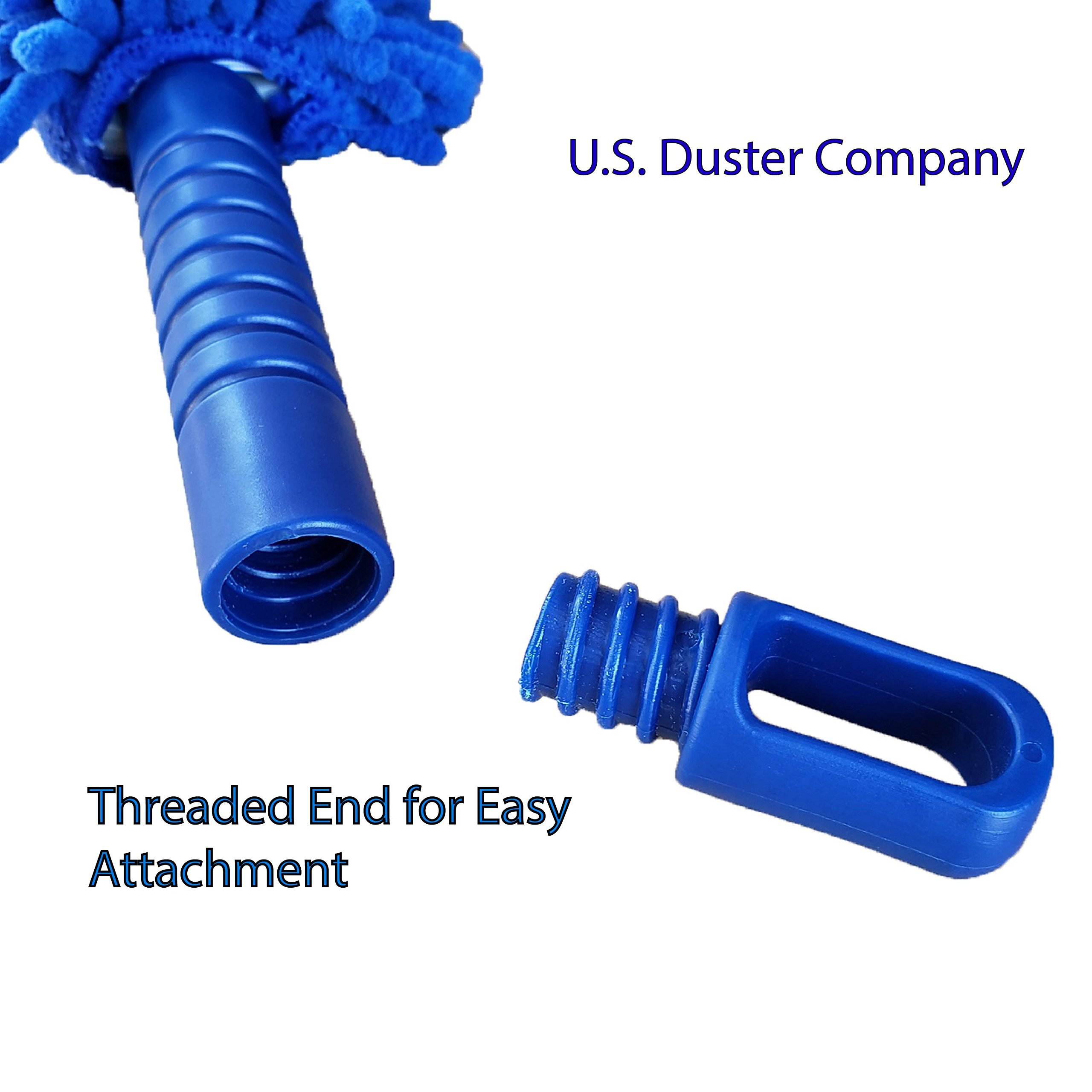 U.S. Duster Company Chenille Extension Duster, Aluminum Extension Rod, Extend 18-20 feet Cleaning High Ceilings, Cathedral Ceilings by U.S. DUSTER COMPANY DUST FREE SOLUTIONS (Image #3)