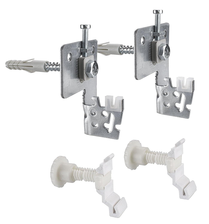 Cornat T591704 Fixation pour plaques radiateur avec languettes