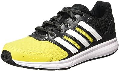 f44294daf4d446 adidas LK Sport K, Chaussures garçon - Multicolore - Noir/Jaune/Blanc,