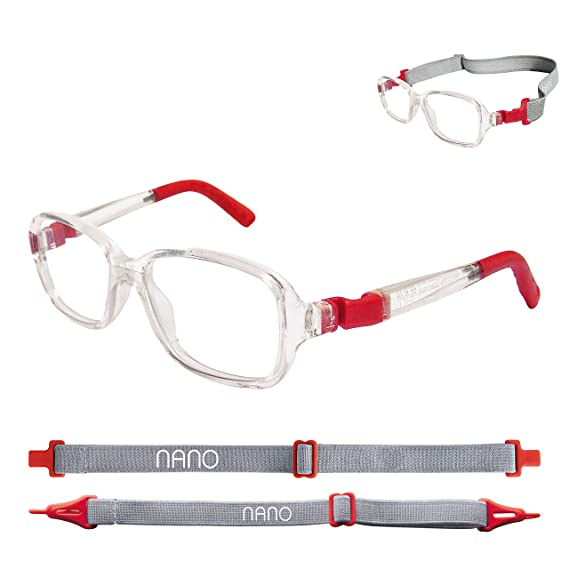 74544ec89e9 Nano Children Eye Glasses Crystal and Red Colored Spectacle Frame RE-PLAY  size 42 - (4-6 years old)  Amazon.in  Clothing   Accessories