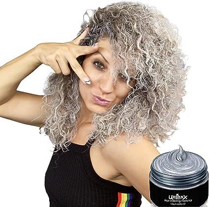 UrbanX Lavable Coloración Del Cabello Material De Cera Unisex Color Tinte Estilo Crema Peinado Natural Pomada Fiesta Temporal Cosplay Ingredientes ...