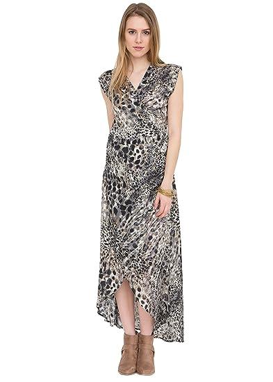 d0568e206b likemary Maxi Wrap Dress in Leopard Print S at Amazon Women s ...