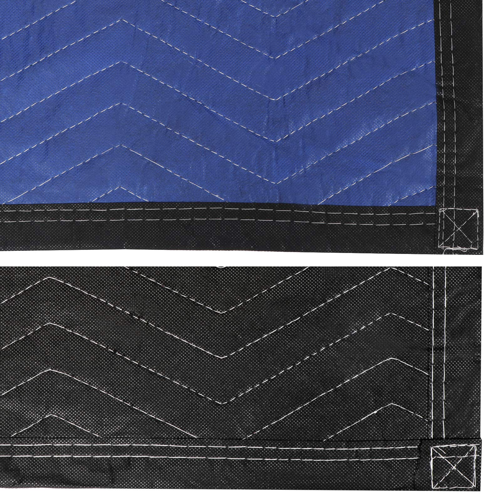 HomGarden 12 Moving & Packing Blankets - 80'' x 72'' Professional Quilted Shipping Furniture Pads Multi Purpose Blankets by HomGarden (Image #4)