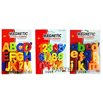 Parteet Magnetic Combo of Capital,Small Letters & Numeric Number for Educating Kids in Fun -Educational Alphabet Refrigerator Magnets | Toy for Preschool Learning, Spelling, Counting (78 Alphabets)