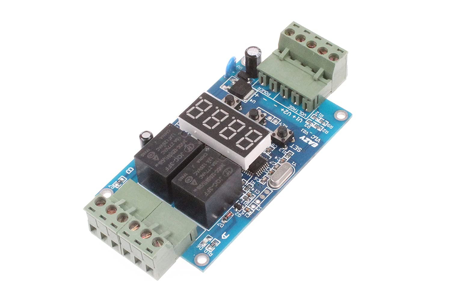 12V NOYITO 30-Step Programmable Time Relay Control Board Multi-Segment Setting ON Off Switch Multi-Group Timing 2-Channel Control Board