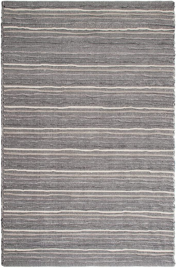 Fab Habitat Formosa - Gray 8 x 10 - Textured Recycled Cotton Area Rug