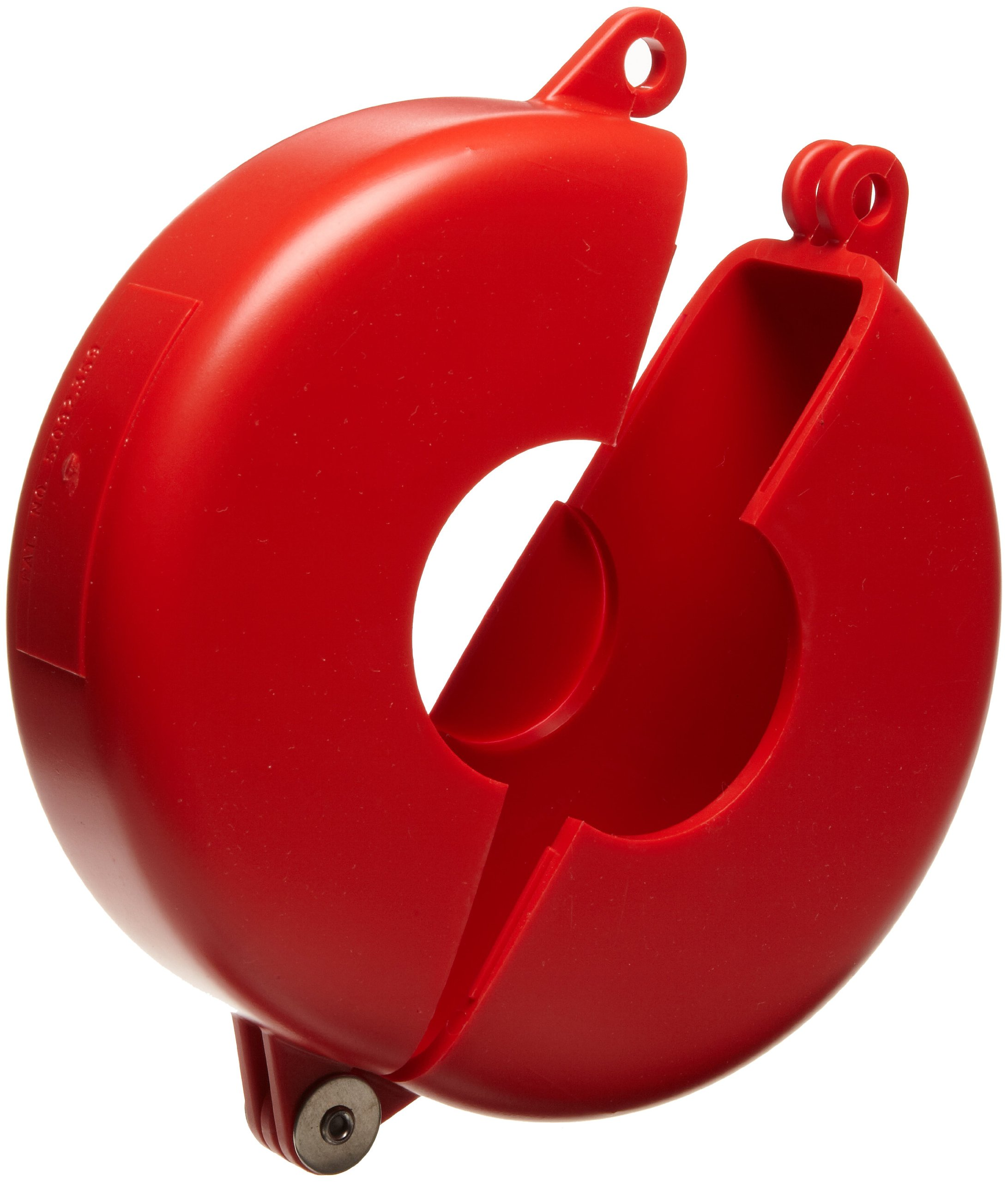 Brady Hinged Gate Valve Lockout, Red, for 1'' - 2-1/2'' Valve Handle Diameters