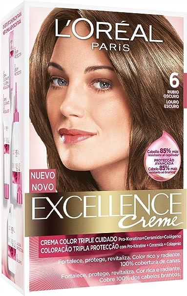 EXCELLENCE tinte Rubio Oscuro Nº 6 caja 1 ud: Amazon.es ...