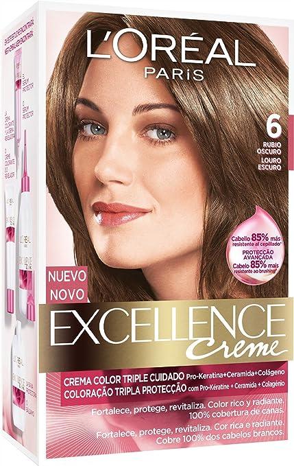 EXCELLENCE tinte Rubio Oscuro Nº 6 caja 1 ud: Amazon.es: Belleza