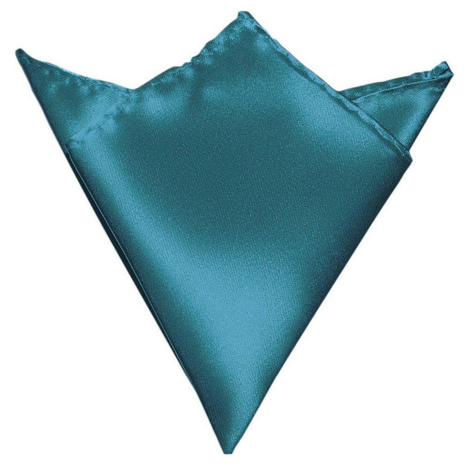 GASSANI Teal Blue Green Hanky Pocket Square Handkerchief Pocket Hanky by GASSANI
