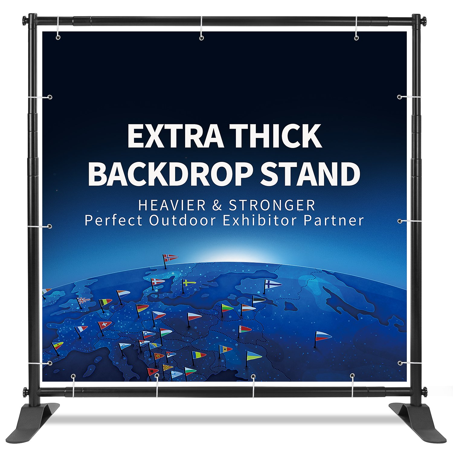 T-SIGN 5x7-8x10 ft Heavy Duty Backdrop Banner Stand, Thicker Professional Large Telescopic Display Step and Repeat Stand for Photography, Carry Bag by T-SIGN