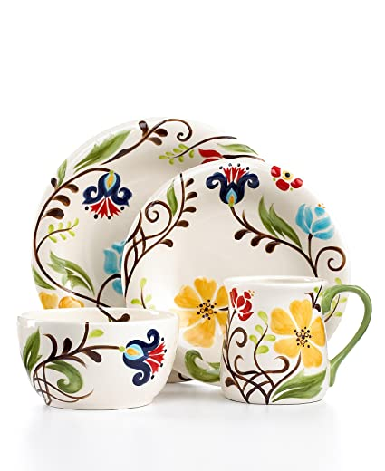 Tabletops Unlimited Dinnerware Eva Mendez \u0026quot;Jardine\u0026quot; ...  sc 1 st  Amazon.com & Amazon.com: Tabletops Unlimited Dinnerware Eva Mendez \