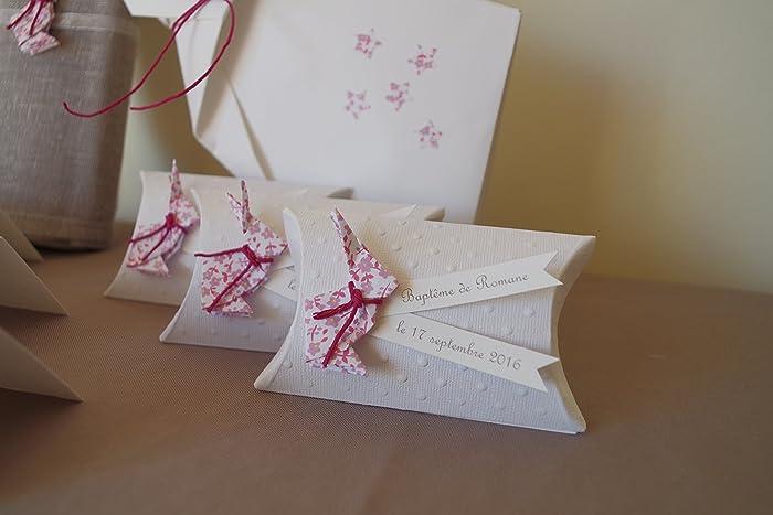 Boîte à Dragées Coussin Lapin En Origami Liberty Violet