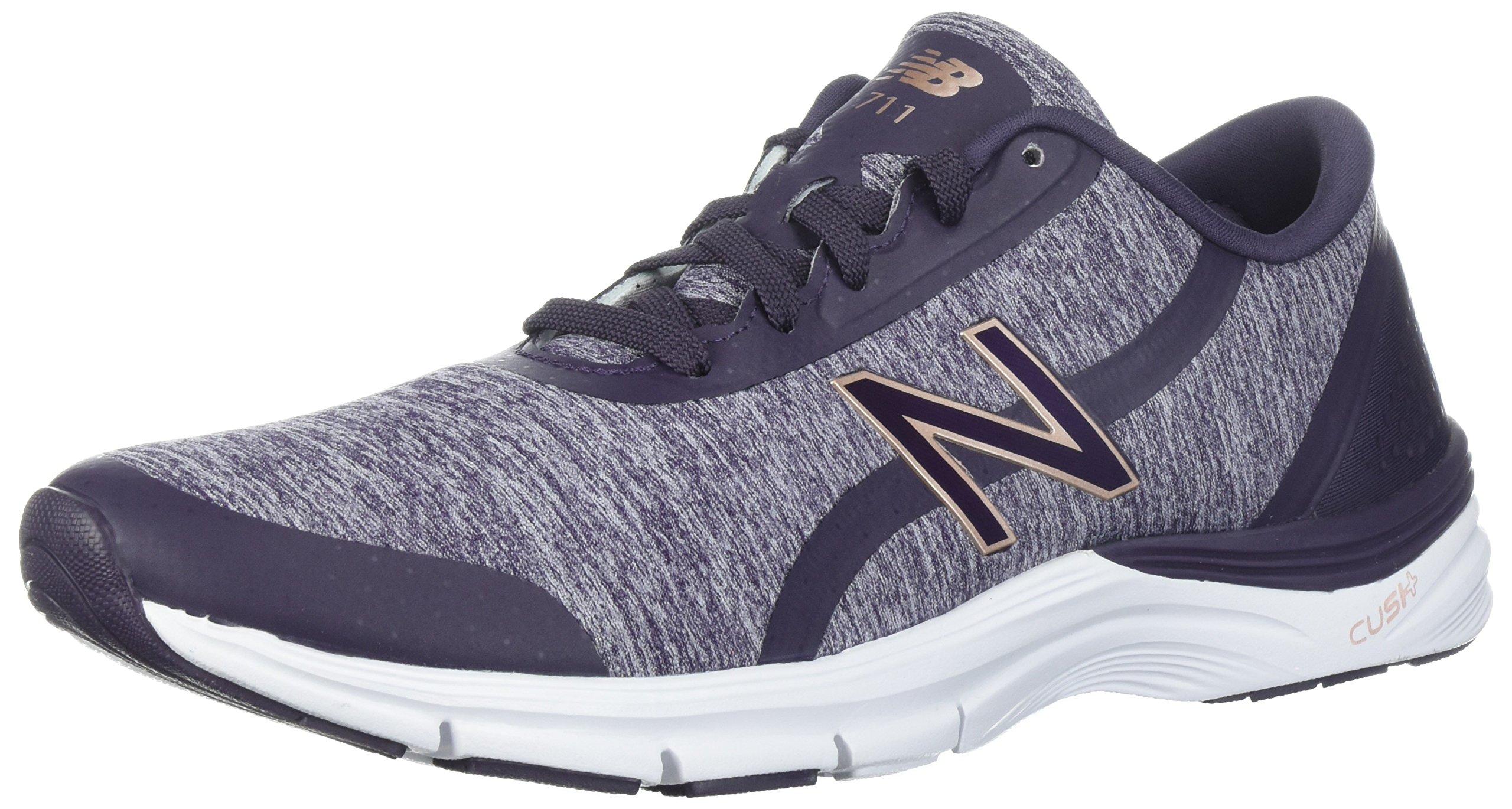 New Balance Women's 711v3 Cush + Cross-Trainer-Shoes, Elderberry/Thistle, 75 B US