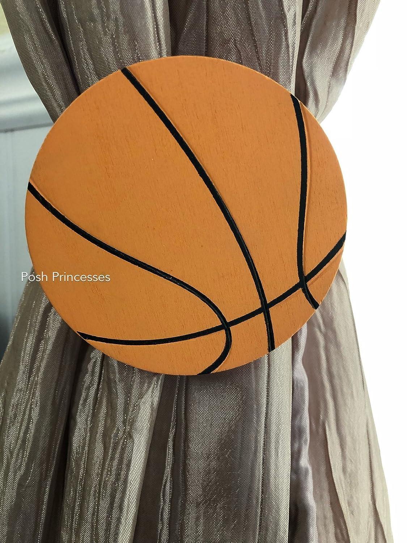Sports Room Basketball Nursery Curtain Tie Backs 2pc Set Nursery Decor