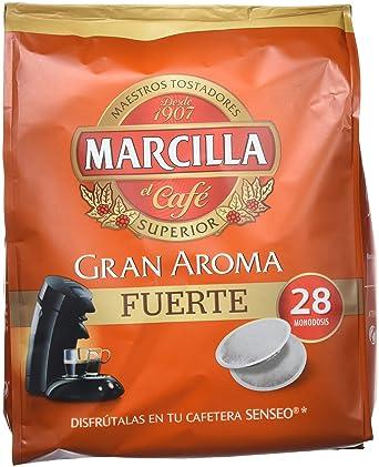 """Café molido de tueste natural en monodosis. Marcilla Gran Aroma """"Fuerte"""" - ["""
