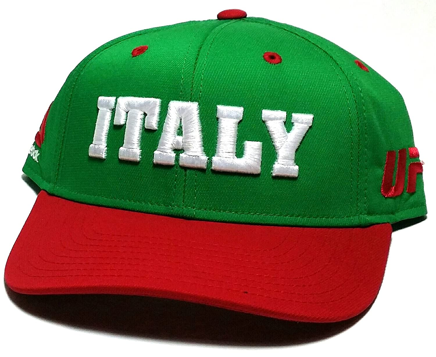395577578e2 Amazon.com   Reebok UFC MMA Green Red Italy Country Pride Adjustable  Snapback Hat Cap   Sports   Outdoors