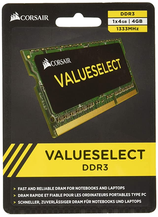 3 opinioni per 16 GB (1x16GB) Selezione valore SO-DIMM Corsair DDR4, PC4-17000 (2133), non ECC