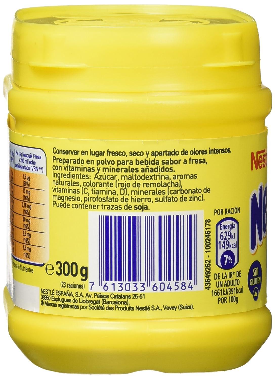 Nestlé Nesquik Fresa Batido Instantáneo Bote - 300 gr ...
