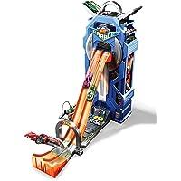 Hot Wheels Torre Garage Enorme Playset per Macchinine con Pista da Corsa a 2 Corsie, Include Veicolo e Rampa di Lancio, FTB68