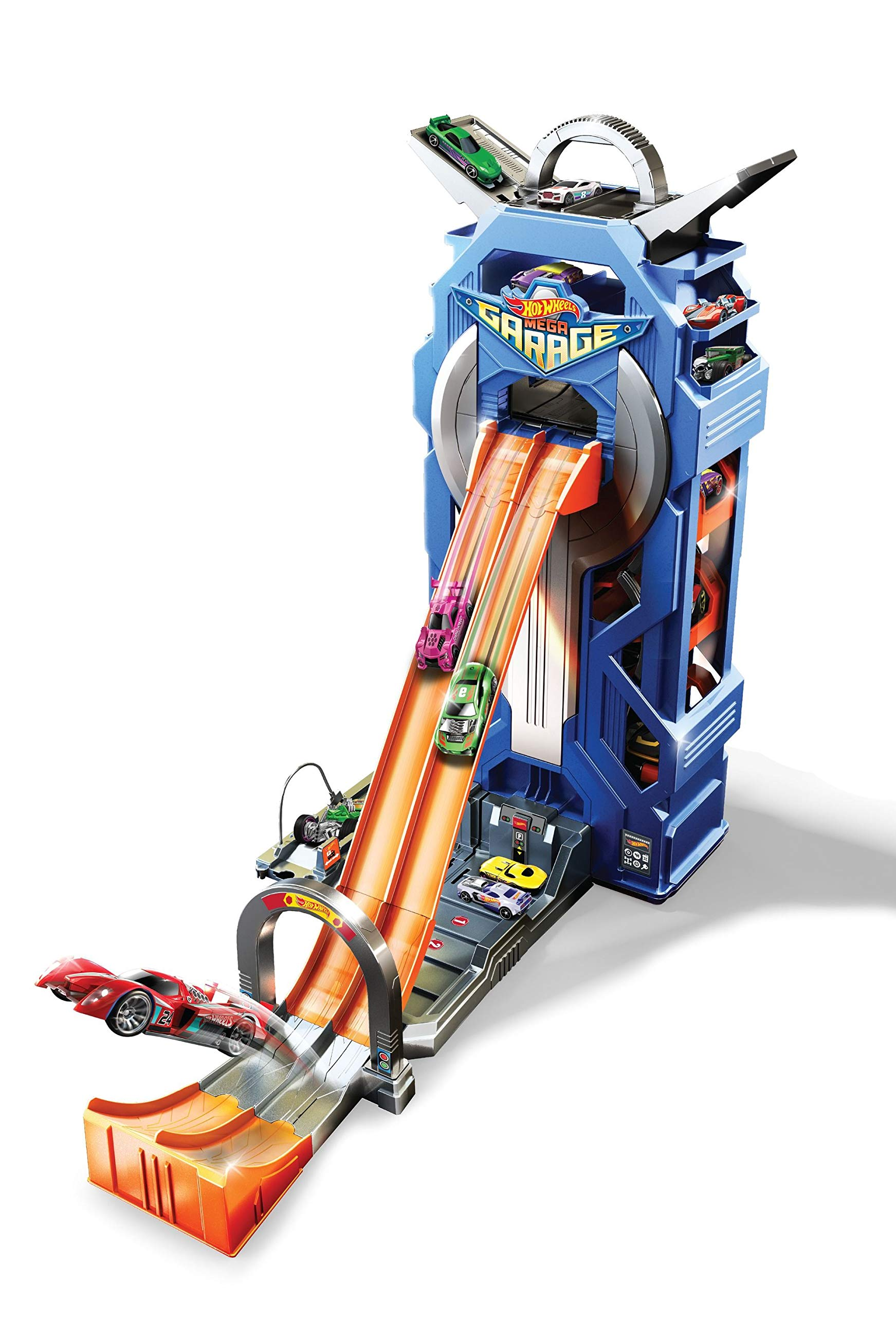 Hot Wheels FTB68 City Mega Garage Connectable Play Set with Diecast and Mini Toy Car