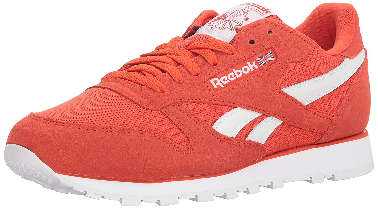 Reebok Men's Classic Leather Sneaker 14 M US|Estl-carotene/White