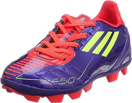 adidas F10 TRX HG FG J VioletRougeJaune Fluo Chaussures de