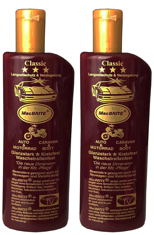 3 Flaschen Autopolitur 'MacBRITE' Classic = 1500ml, CarBRIGHT