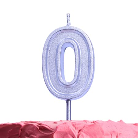 Get Fresh - Velas de cumpleaños para 0 años, Color Plateado ...